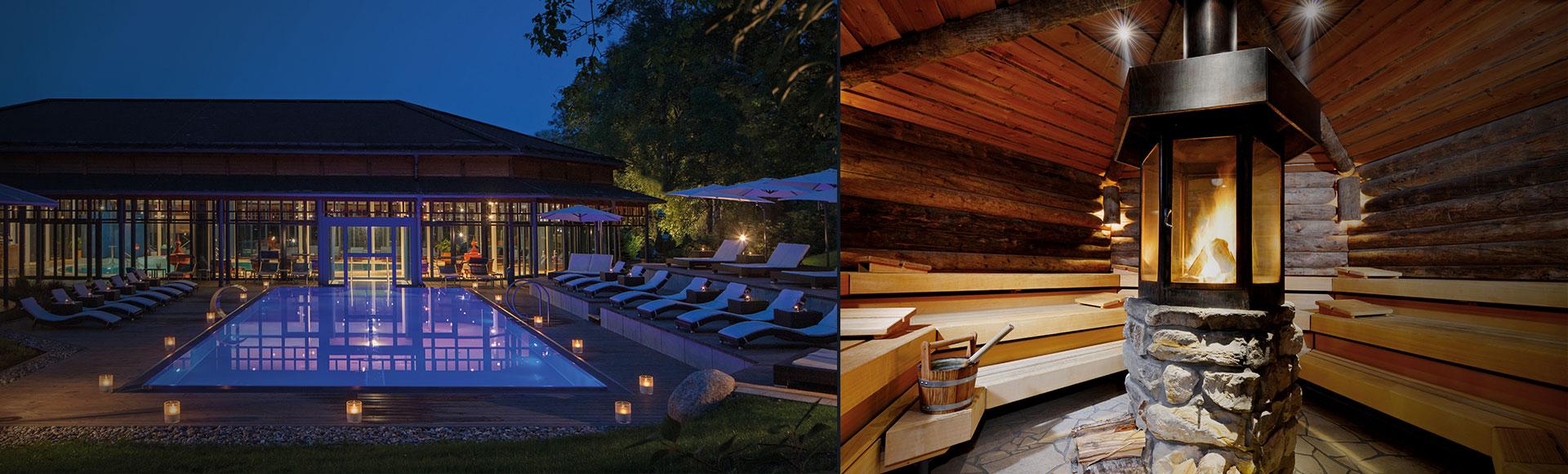 piscines avec vue sur la nature au parkhotel adler. Black Bedroom Furniture Sets. Home Design Ideas